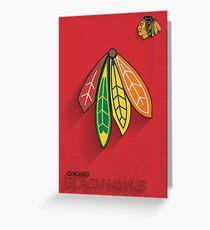 Chicago Blackhawks Minimalist Print Greeting Card