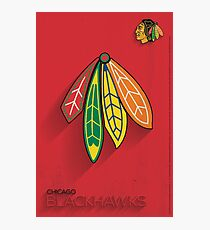 Chicago Blackhawks Minimalist Print Photographic Print