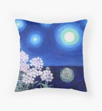 Stars and Flowers Throw Pillow