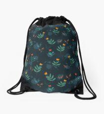 Midnight florals - 01 Drawstring Bag