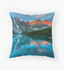 Moraine Lake, Canada I Throw Pillow