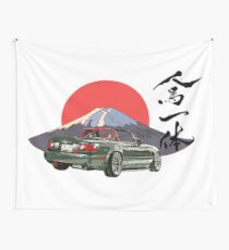 Mazda Miata/Mx5 - Jinba Ittai Mount Fuji edition Wall Tapestry