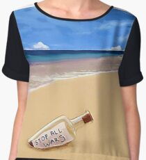 Message In The Bottle Chiffon Top