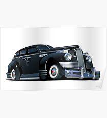 Cartoon retro limousine Poster