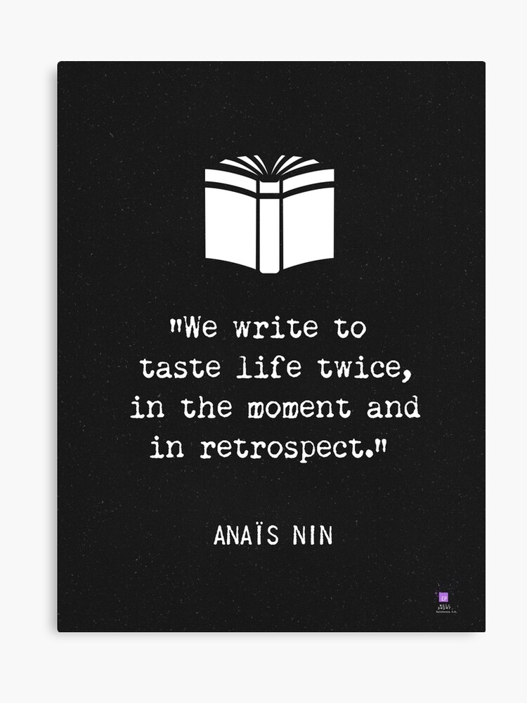 Anais Nin quote | Canvas Print
