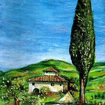 Old Farmhouse in Chianti ,Tuscany Landscape by BulganLumini