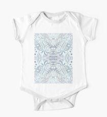 tropical crochet new age aqua blue paisley lace One Piece - Short Sleeve