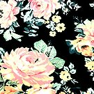 cottage chic french country pink peony black floral  by lfang77