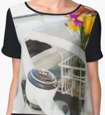 Flowers in a Vintage VW Bus Chiffon Top