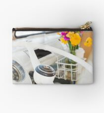 Flowers in a Vintage VW Bus Studio Pouch