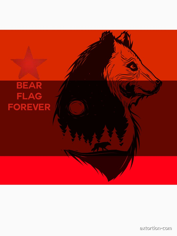 bear flag forever by extortion-com