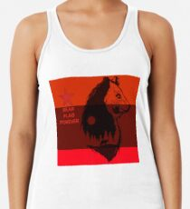 bear flag forever Racerback Tank Top