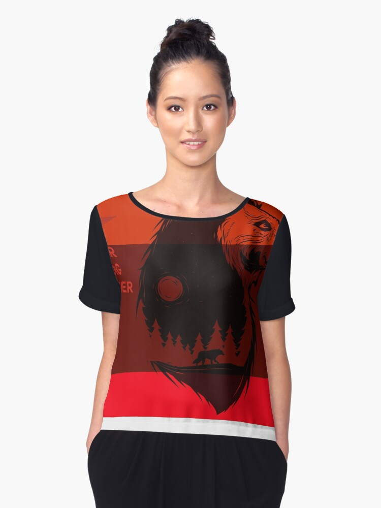 bear flag forever Women's Chiffon Top Front