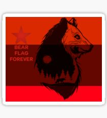 bear flag forever Sticker