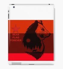 bear flag forever iPad Case/Skin