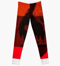 bear flag forever Leggings