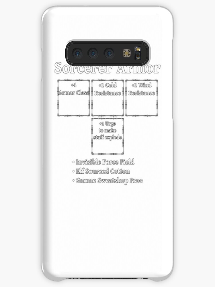 'Sorcerer Armor: Role Playing DND 5e Pathfinder RPG Tabletop RNG' Case/Skin  for Samsung Galaxy by geekydesigner