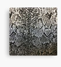 African safari tribal pattern black silver grey snake print Canvas Print