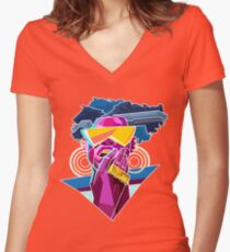 WOKE - Black & Beautiful Women's Fitted V-Neck T-Shirt