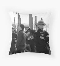 Venice Gondoliers Throw Pillow