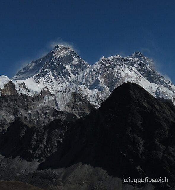 Mount Everest, Nuptse & Lhotse by wiggyofipswich