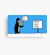 A Wishing Penguin Canvas Print
