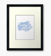 """""""Lupin Smiled"""" Sticker Framed Print"""