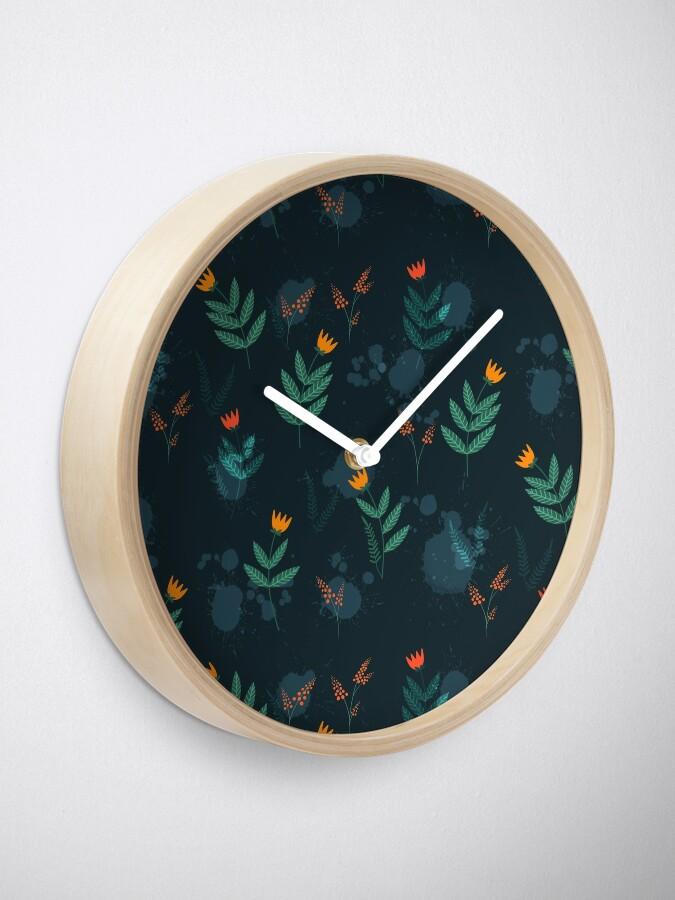 Alternate view of Midnight florals - 01 Clock