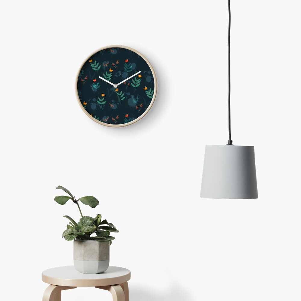 Midnight florals - 01 Clock