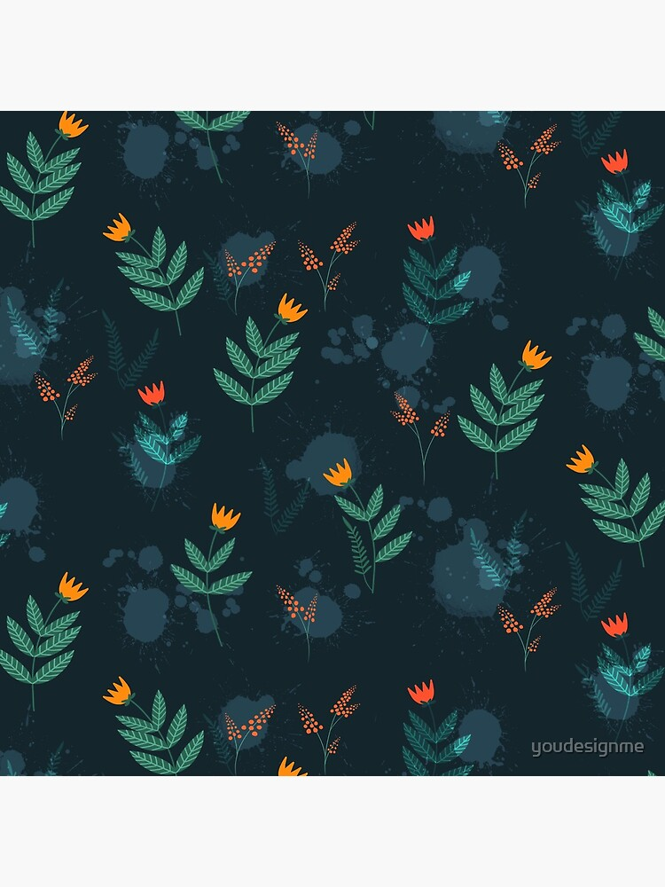 Midnight florals - 01 by youdesignme