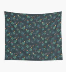 Midnight florals - 01 Wall Tapestry