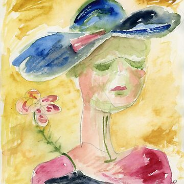 Lady with hat by oliver1680