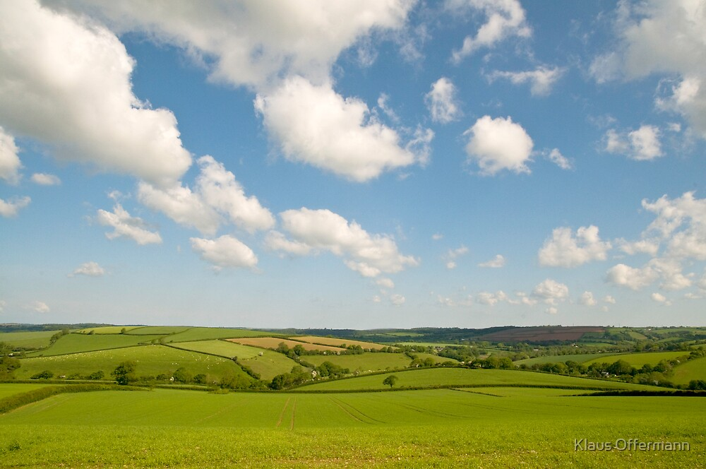 Landscape in South West England by Klaus Offermann