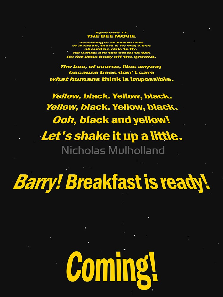 Bee Movie Opening Screen Crawl A Star Wars Parody By Lulianus