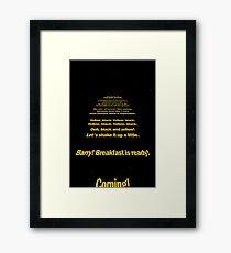 Bee Movie Opening Screen Crawl- A Star Wars Parody Framed Print