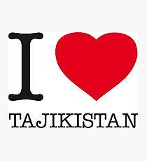 I ♥ TAJIKISTAN Photographic Print