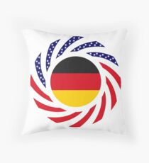 German American Multinational Patriot Flag Series Throw Pillow