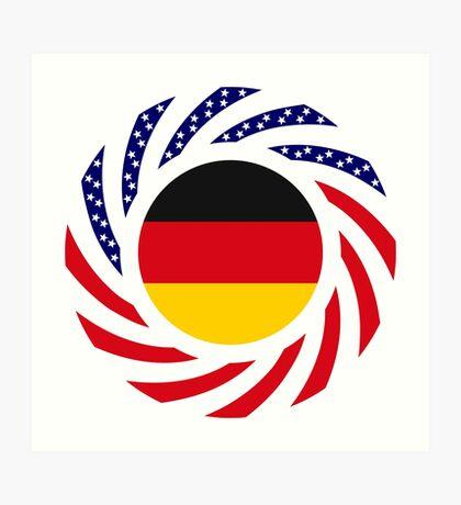 German American Multinational Patriot Flag Series Art Print