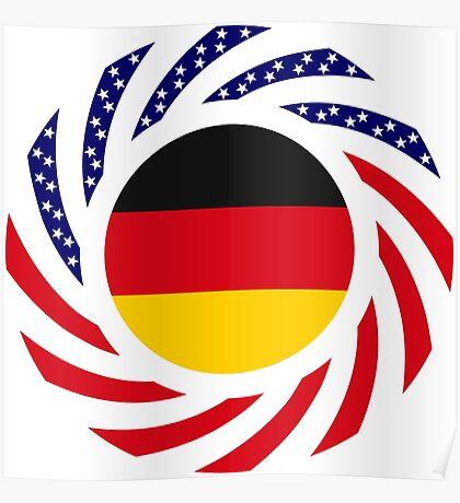 German American Multinational Patriot Flag Series Poster