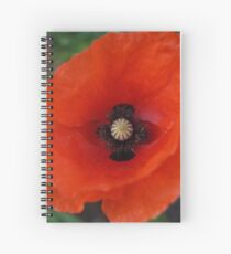 Rememberance Poppy Spiral Notebook