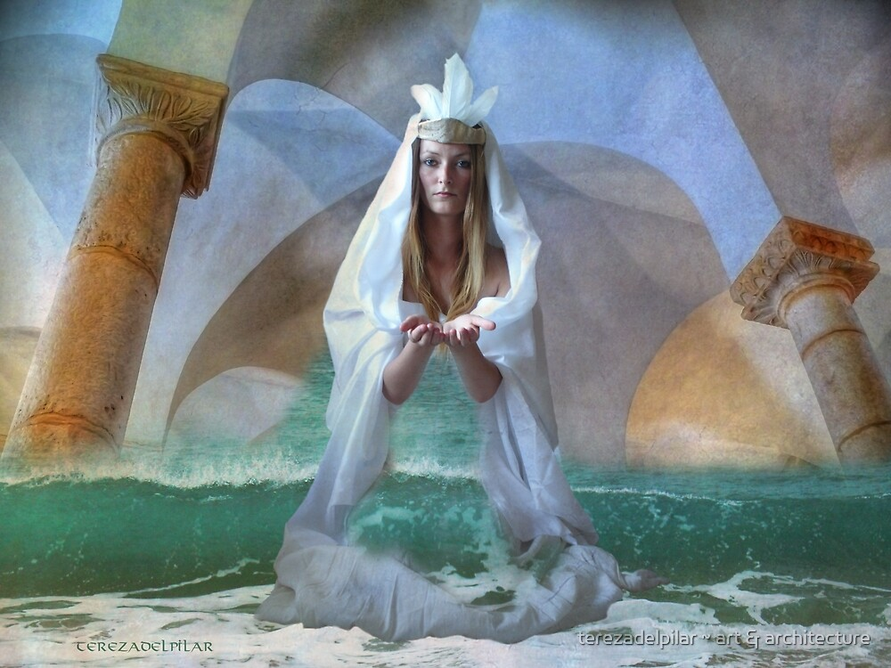 ...the Goddess and Birth of a Temple in the Sea... by terezadelpilar ~ art & architecture