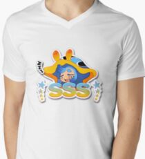 Sleepy Slug Squad Logo Men's V-Neck T-Shirt