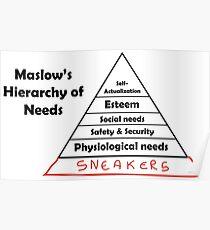 Maslows Hierarchie der Turnschuhe Poster