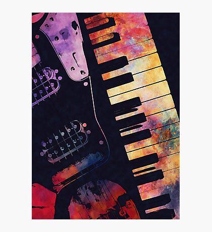 piano and guitar art #piano #guitar #music Photographic Print