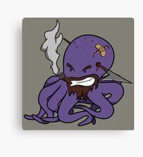 Scalawag The Octopus - Purple Canvas Print