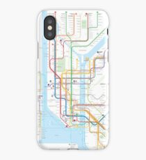 New York City subway map iPhone Case