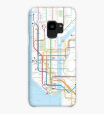 New York City subway map Case/Skin for Samsung Galaxy