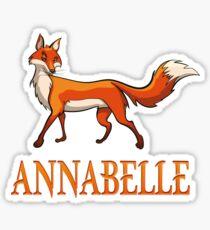 Annabelle Fox Sticker