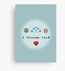 I Choose You! (Water) Canvas Print