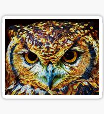 Eagle Owl - Digital Art Sticker
